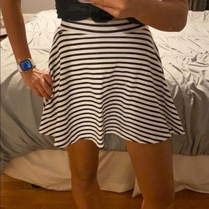 Vs pink striped cotton skirt